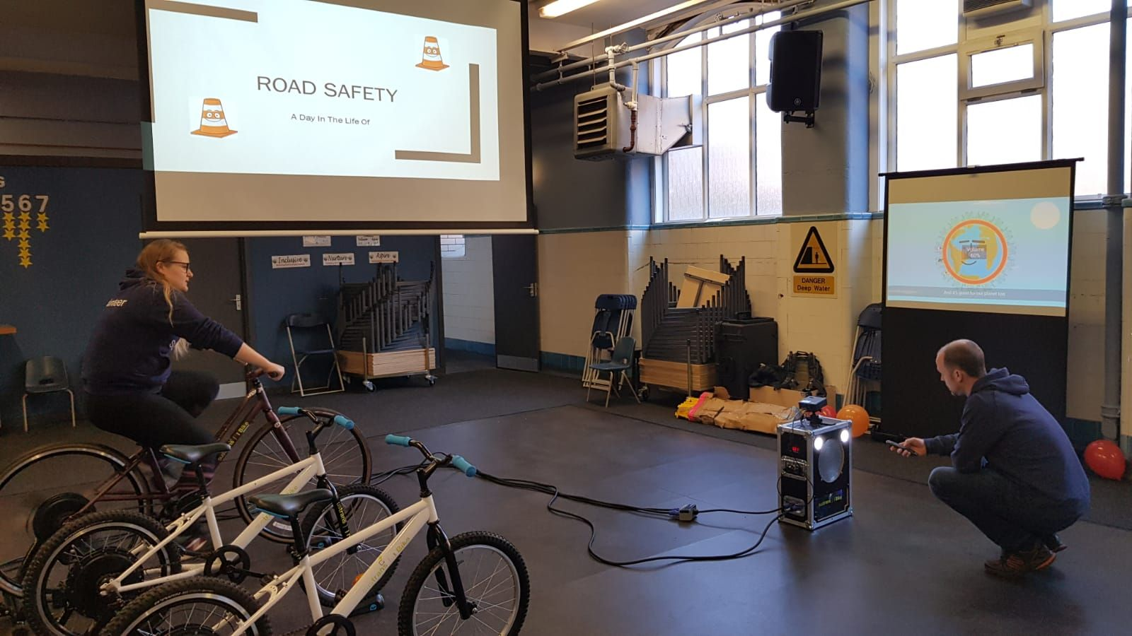 I Bike Pedal Powered Cinema