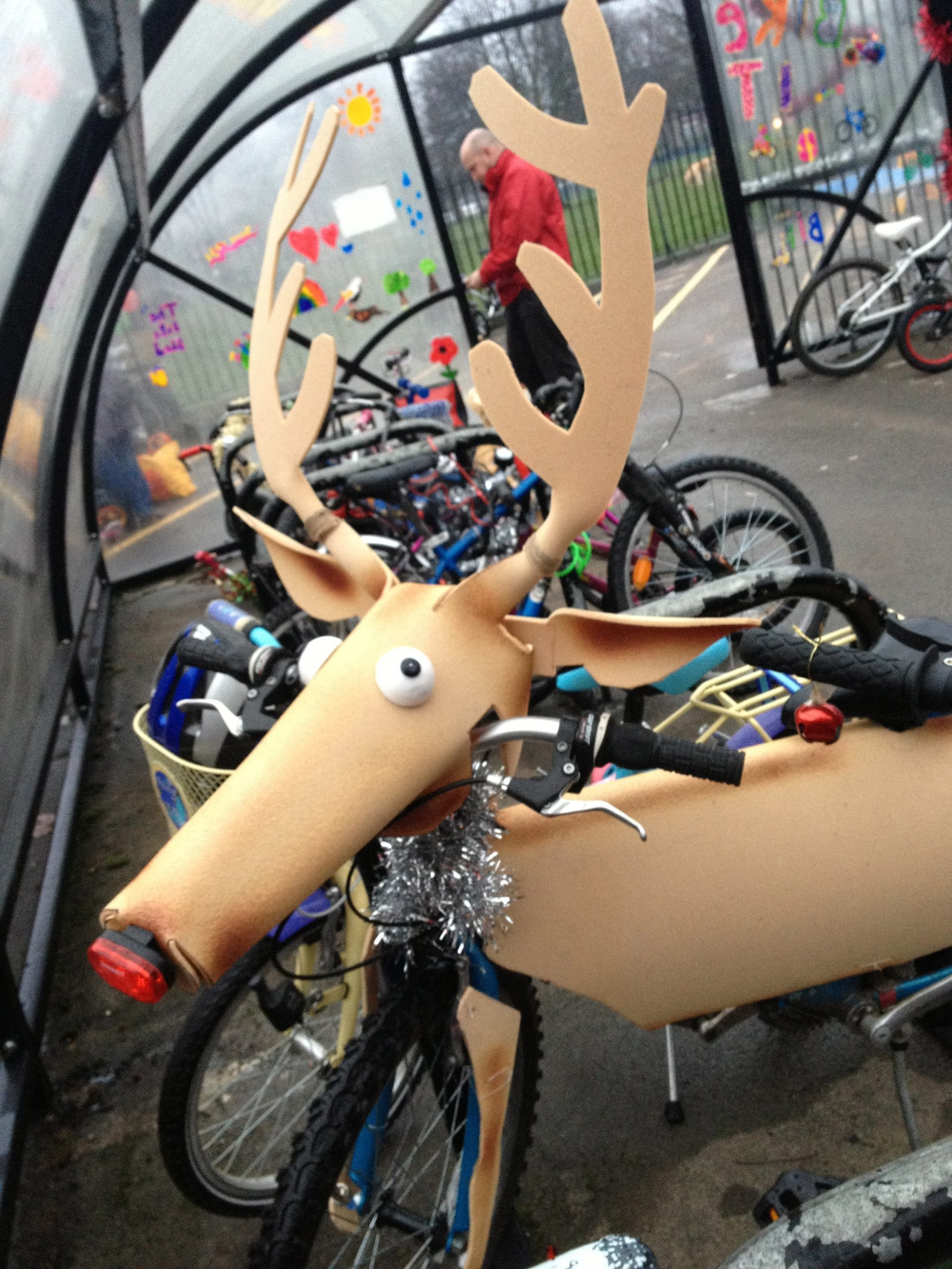 Rudolph at Christmas Bling Your Bike cycling event