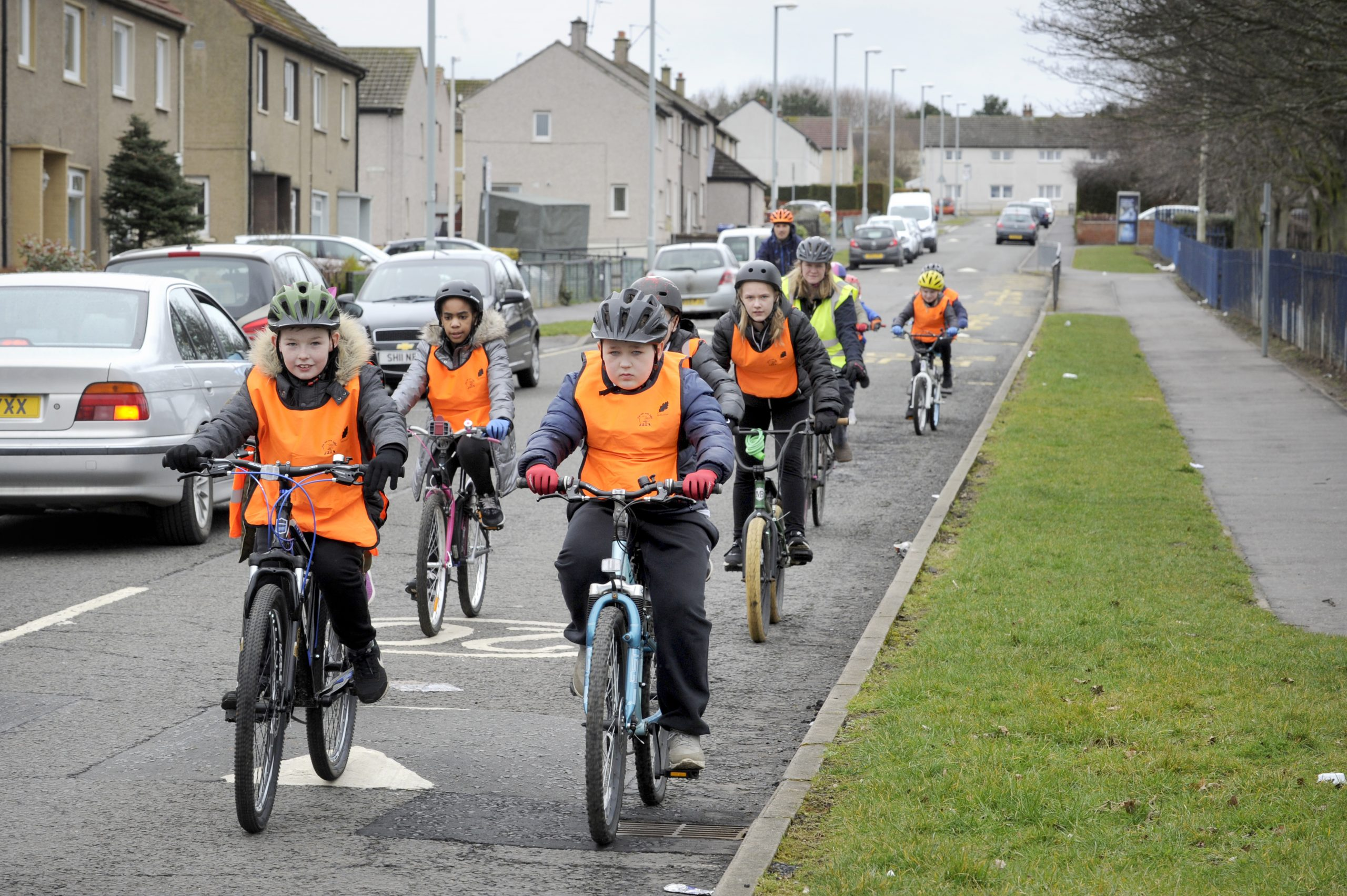Led ride with Danderhall Primary along the newly constructed Loanhead Path Extension route