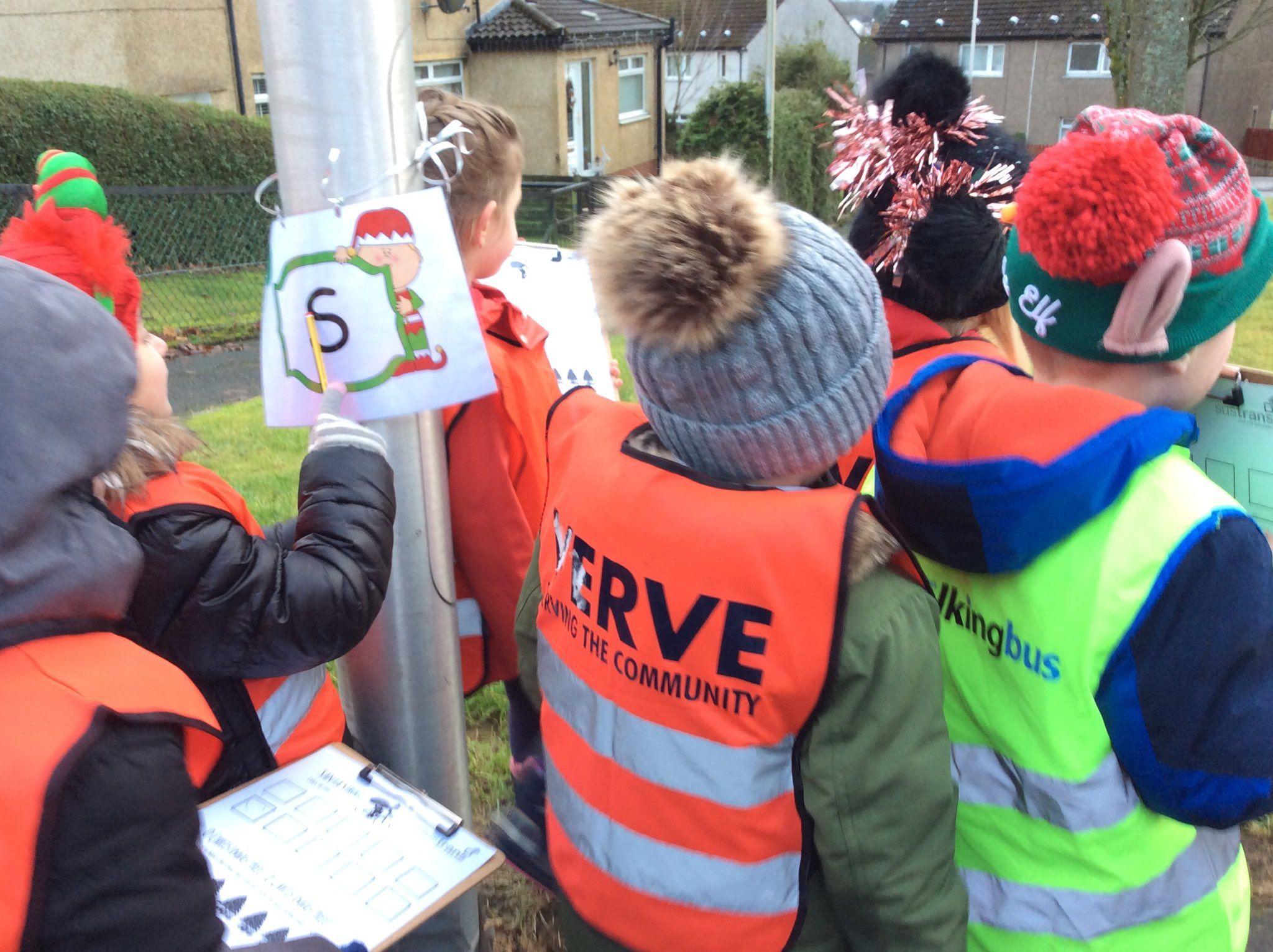 West Lothian pupils enjoying a Santa Stroll