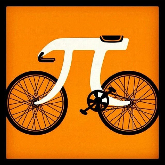 Pi maths bike graphic