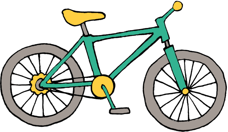 green bike graphic