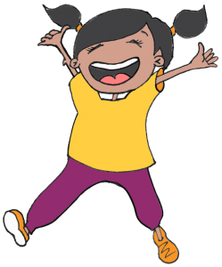 jumping kid graphic