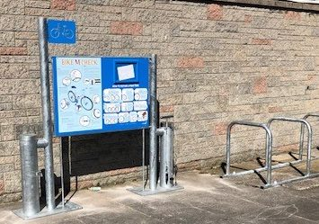 Secondary School Bike Repair Station Example