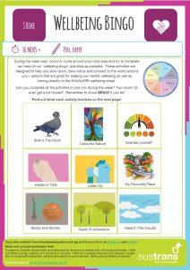Wellbeing Bingo Worksheet Click here to open