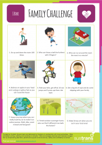 Family Challenge - click to open worksheet in new page