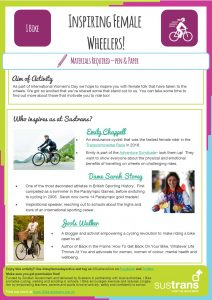 Inspiring Female Wheelers Worksheet (click to open in a new tab)